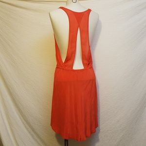 WILFRED Red Casual Silk Dress w/cutout back